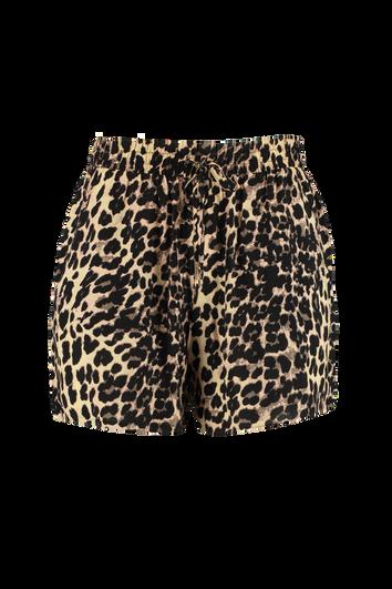 Shorts mit Stoff-Gürtel
