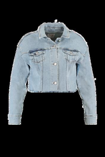 Kurz geschnittene Jeansjacke