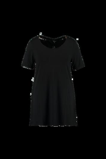 Einfarbiges langes T-Shirt mit Verzierungen hinten