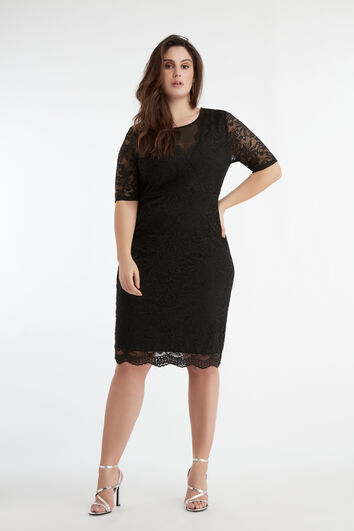 Elastisches Spitzen-Kleid