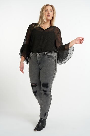 Jeans mit Used-Look