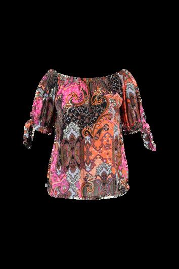 Farbenfrohe Schulterfreie Bluse