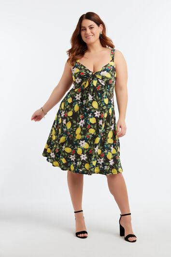Kleid mit Zitronen-Print
