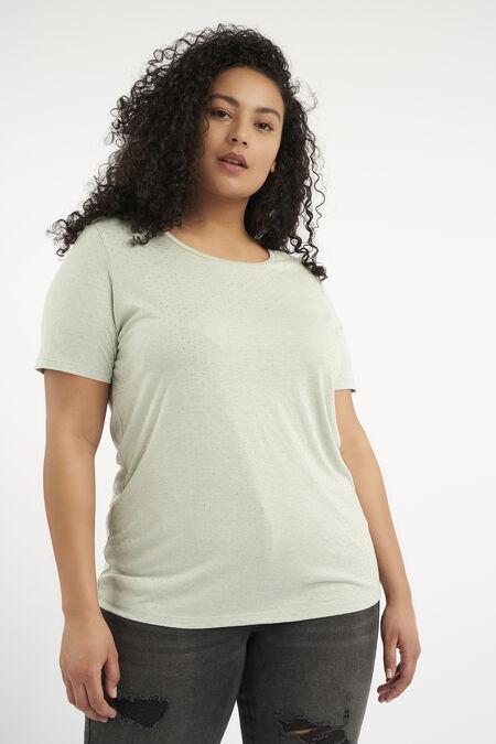 T-Shirt mit kleinen Ziernieten