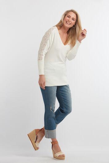 Spitzen-Pullover