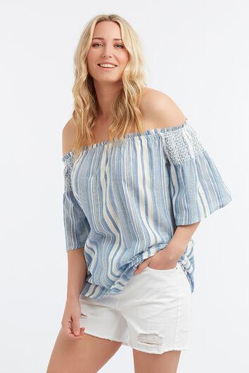 Bluse mit Batik-Print