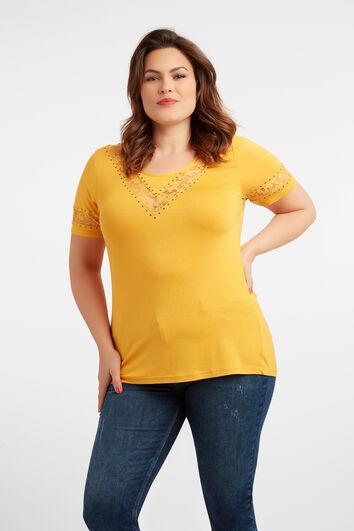 T-Shirt mit Spitze