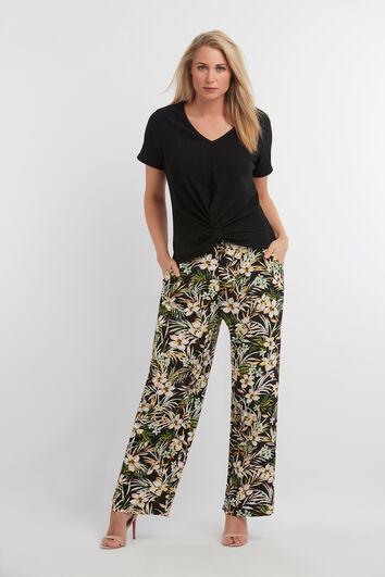 Wide-Leg Hose mit Print