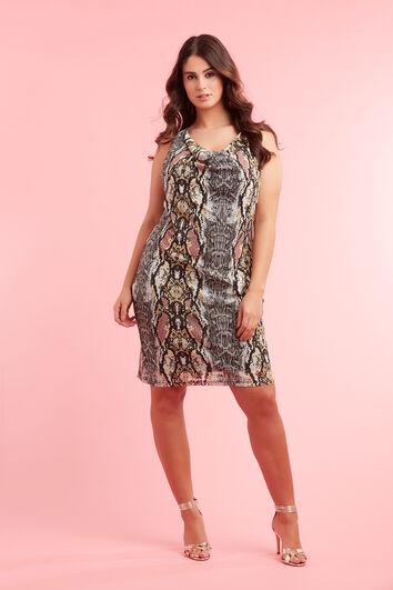 Bodycon-Kleid mit Schlangen-Print