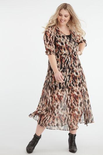 Durchgeknöpftes Wickel-Kleid