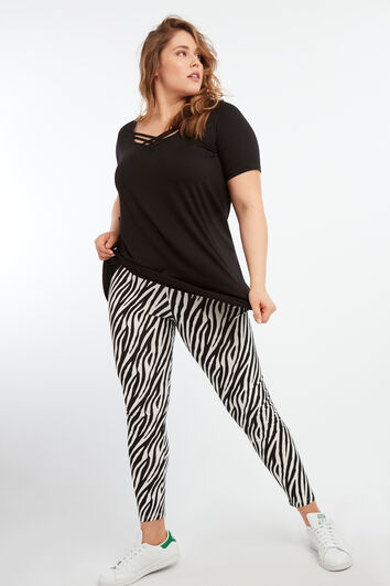 Leggings mit Zebra-Print
