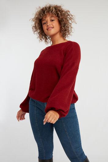 Sweater mit Puffärmeln