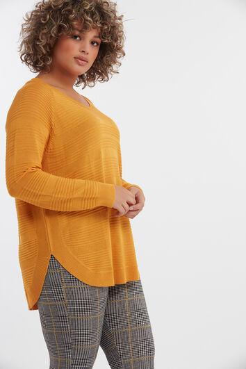 Dünner Pullover mit Rippenmuster