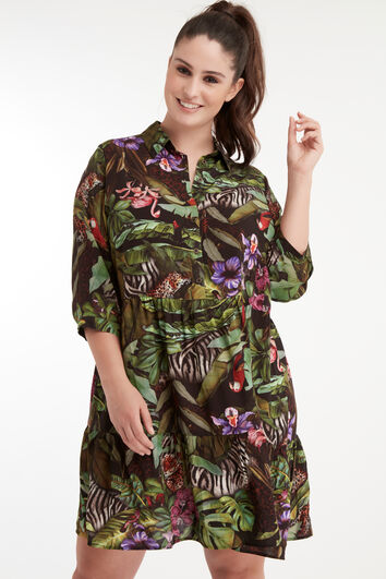 Kleid mit Jungle-Print