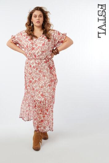 Maxi-Kleid mit floralem Print