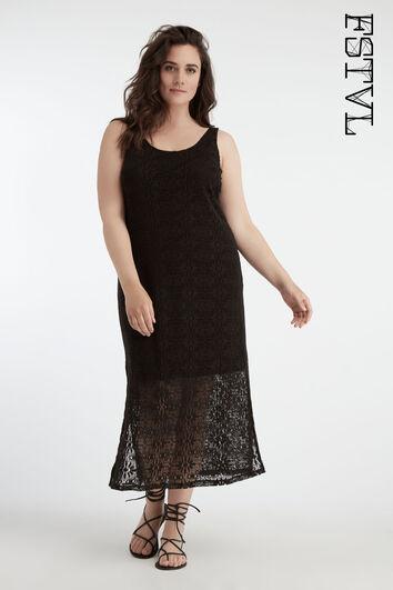 Langes Spitzen-Kleid