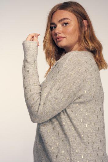 Sweater mit Foliendruck