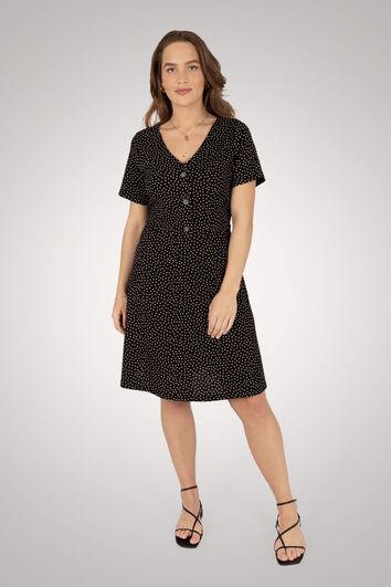 Kleid mit kleinem Punktmuster