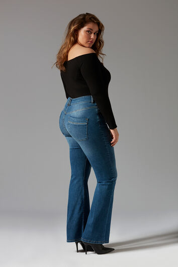 Magic Simplicity Flared-Leg SHAPING Jeans
