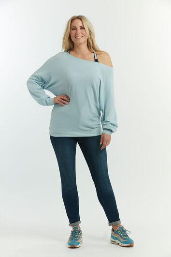 Weicher Pullover mit Fledermaus-Ärmeln