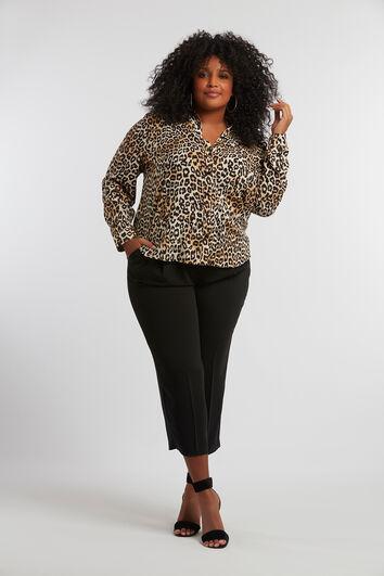 Bluse mit Leopardenmotiv
