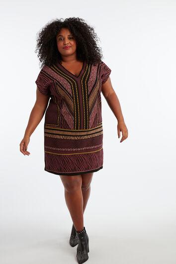 Kleid mit Wachs-Print