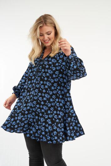 Bluse mit Knöpfen und Blumen-Print