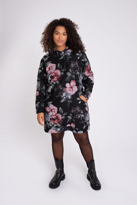 Sweatshirt-Kleid mit Blumen-Print
