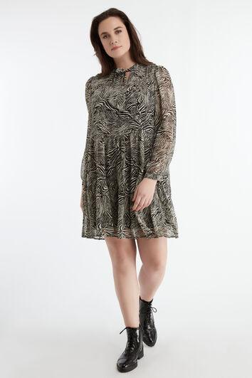Kurzes Kleid mit Zebra-Print