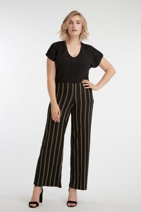 Weit geschnittene Hose mit Streifen