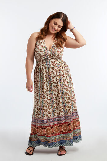 Langes Kleid mit Träger-Detail