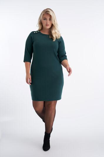 Figurbetontes Kleid mit Knopfelement