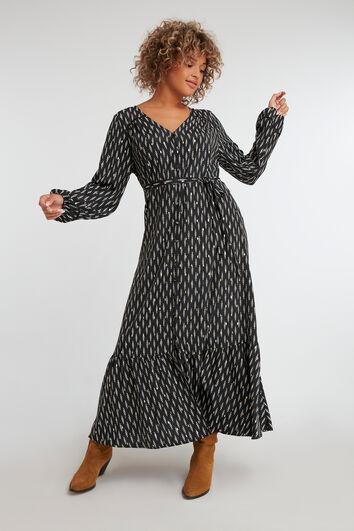 Kleid mit Folien-Print