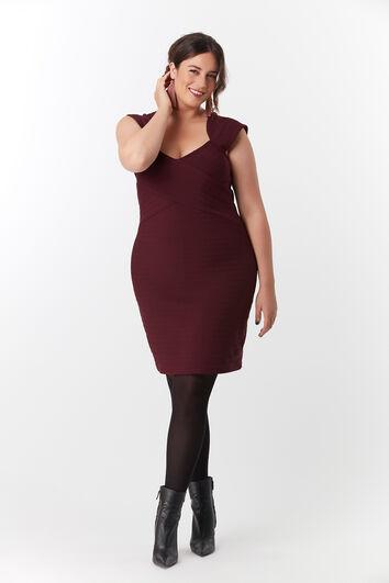 Bodycon-Kleid mit herzförmigem Ausschnitt