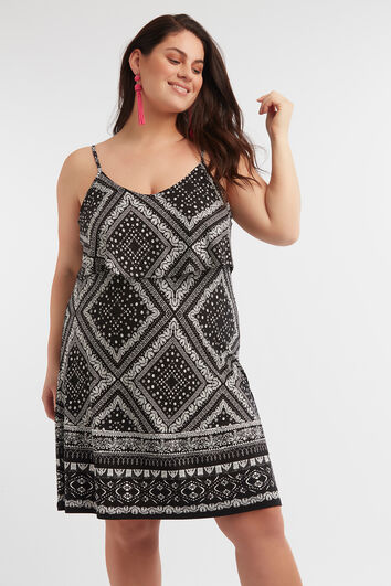 Ärmelloses Print-Kleid