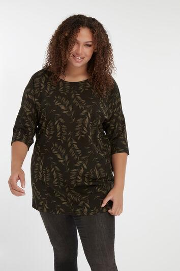 Langes T-Shirt mit Print