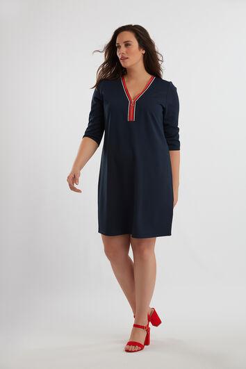 Kleid mit Reißverschluss-Detail