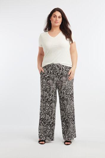 Wide-leg Hose mit Allover-Print