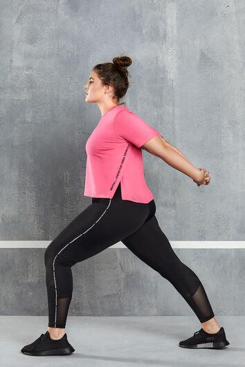 Sport-Leggings mit Mesh-Detail