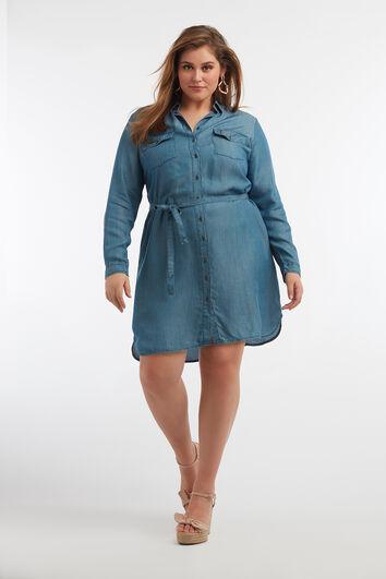 Button-down-Tencel-Kleid