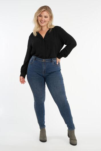 Jeans mit Glitzerstreifen