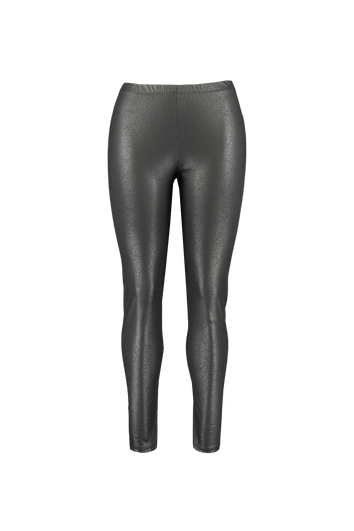 Leggings im Wet-Look mit Crackle-Print