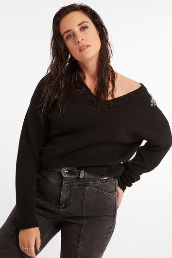 Sweatshirt mit Strasssteinen