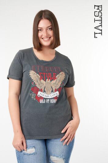 T-Shirt mit trendigem Print