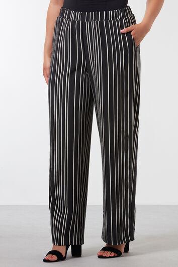 Wide-leg Hose mit Streifen