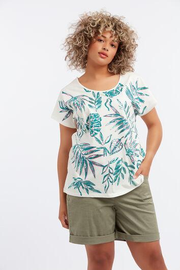 T-Shirt mit Foliendruck