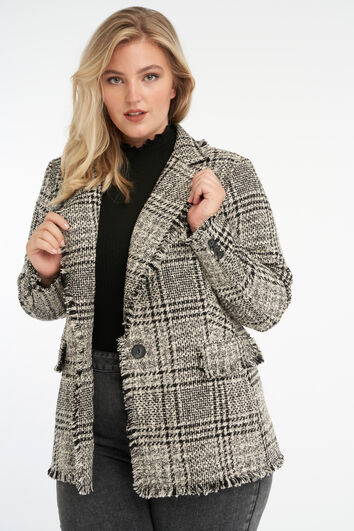 Tweed Jacke