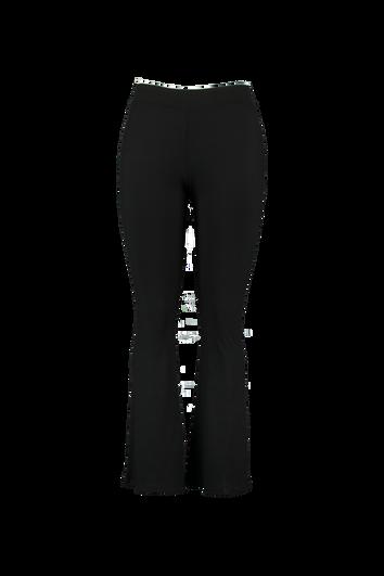 Elastische Leggings mit ausgestelltem Bein