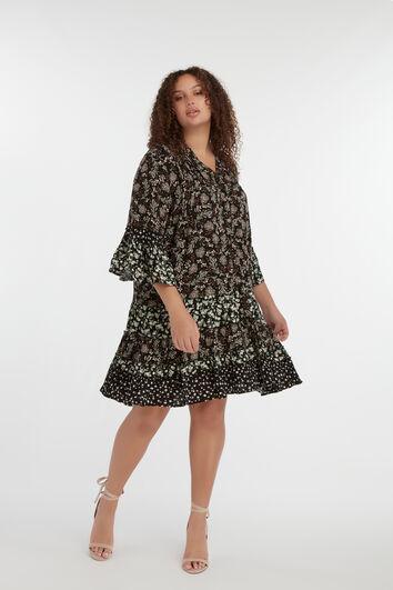 Kleid mit Patchwork