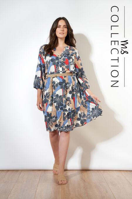 A-Figur-Kleid mit Print